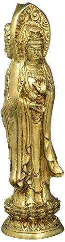 Buddhism Indian Art Three Face Sakyamuni Kwan-Yin Bodhisattva Sculpture Buddha statue 11.5 inch