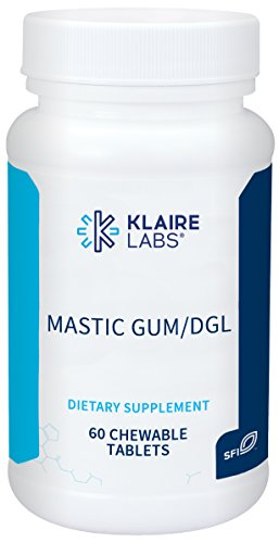 Klaire Labs Mastic Gum/DGL - Deglycyrrhizinated Licorice and Mastic Gum for Digestion Support & Occasional GI Discomfort (60 Chewable Tablets)