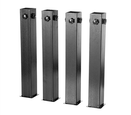 - DormCo Suprima Ultimate Height Bed Risers - Carbon Steel - Black