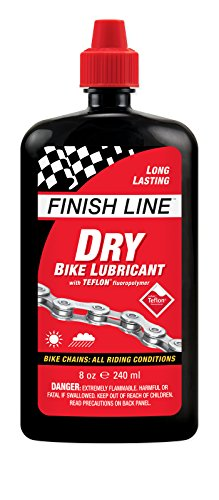 Lubricant Chain - Finish Line Dry Bike Lubricant with Teflon Squeeze Bottle, 8 oz.