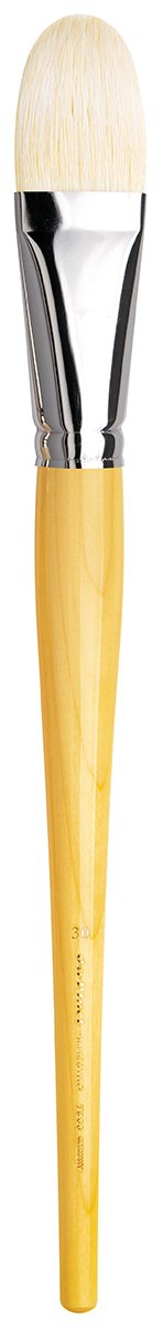 da Vinci Hog Bristle Series 7900 Maestro Artist Paint Brush, Filbert XL-Length Hand-Interlocked with Natural Polished Handle, Size 30