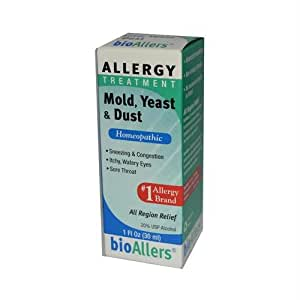 BioAllers Allergy Treatment Mold Yeast and Dust -- 1 fl oz