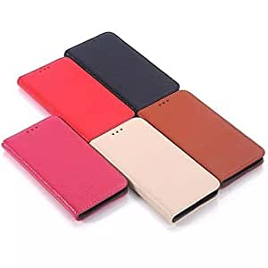 LCJ Samsung Samsung Galaxy S6 compatible Solid Color/Special Design Genuine Leather Full Body Cases/Cases with Stand , Rose
