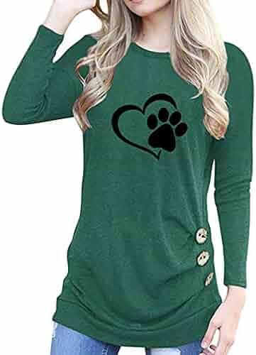 d3095e487 2018Autumn Winter Long Sleeve Shirt Tops Laimeng-World O-Neck Appliques Long  Sleeve Loose