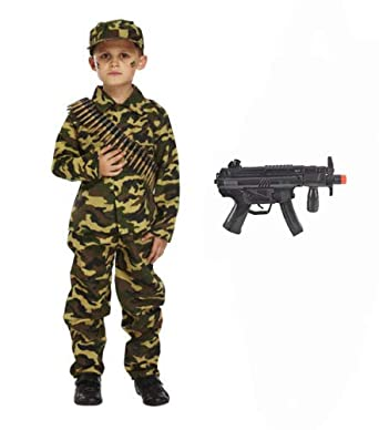 Instant Army General Kit Uniform Halloween Military Costume Accessories Child