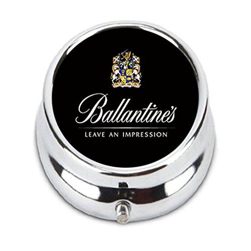 Finest Blended Scotch Whiskey (Ballantines Finest Blended Scotch Whisky Custom Fashion Pill Box Medicine Tablet Holder Organizer Case for Pocket or Purse)