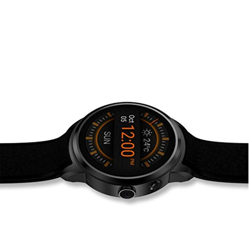 L@YC New Round Screen Android IP67 Waterproof WIFI Quad-Core GPS Positioning Camera Phone Smart Watches , black by L@YC