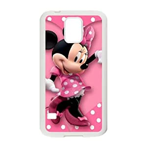 caso Mickey y Minnie Mouse W1E16G6AL funda Samsung Galaxy S5 funda 0L8S47 blanco