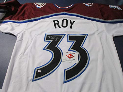 Patrick Roy Autographed Signed Memorabilia White Avalanche Jersey/Playing Career 1984 2003 / Coa - Certified Authentic
