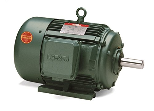 Leeson 171322.60 General Purpose Motor, 3 Phase, 184T Frame, Rigid Mounting, 5HP, 1800 RPM, 208-230/460V Voltage, 60/50Hz - Voltage Phase 3 Motor