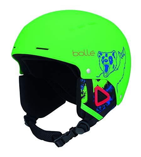Bolle Quiz Ski Helmet, Matte Green Bear, 52-55cm (Helmet Ski Youth Bolle)