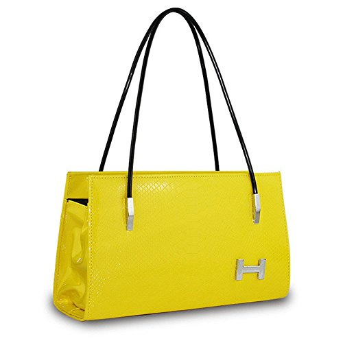 NEW JJ lettres mode croix corps sac à bandoulière femmes PU Sac à main jaune
