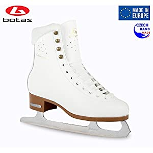 Botas Model: Diana/Made in Europe (Czech Republic) / Figure Ice Skates for Women, Girls, Kids/Sabrina Blades/White Color
