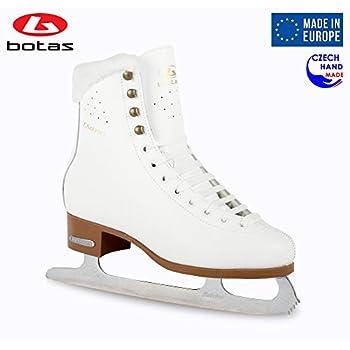 Image of Botas - Model: Diana/Made in Europe (Czech Republic) / Figure Ice Skates for Women, Girls, Kids/Sabrina Blades/White Color Figure Skates