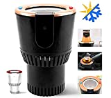 Olymbros Car Cup Warmer Cooler Premium 2-in-1 Portable Smart Auto Car Heating Cooling Can Cup Drinks Holder for Water Coffee Beverage Milk with Display Temperature Warmer Heater Cooler Fits in Traveler Road Tripper Outdoors