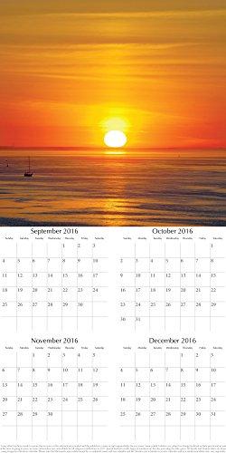 Beaufiul Photographs of Sunsets 2017 Monthly Wall Calendar, 12