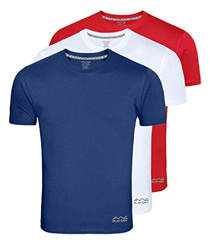 AWG ALL WEATHER GEAR Men's Regular Fit T Shirt (Pack of 3)