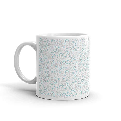 Nursery Art Baby Animals Seamless Pattern Lion Coffee Awesome Mugs Cup Ceramic 11oz