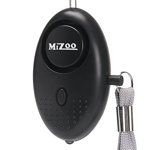 MIZOO 135db Emergency Personal Alarm Keychain for Women, Kids, Girls, Self Defense Electronic Device as Bag Decoration, Silver (Batteries Included)