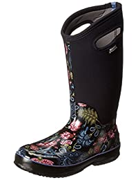 Bogs Women's Classic Tall Winter Blooms Waterproof Boot