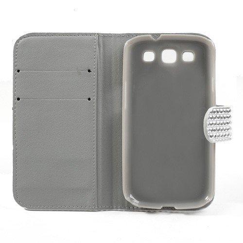 Caja del teléfono móvil para Samsung Galaxy S3 / GT-I9300 LTE / GT-I9305 RHOMB RESERVA Caso negro tirón de la cubierta del caso de negocios del caso del tirón de la costura de la tela escocesa