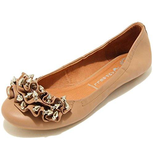 7778F ballerina JEFFREY CAMPBELL RUFFLE scarpa donna shoes women NUDO