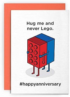 Divertida tarjeta de aniversario Lego | Abrazo de cumpleaños ...