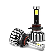 uxcell® 80W 9005 LED Headlight Kit 6000K 4000LM COB LED Bulbs for Headlight Replacement (Set of 2)