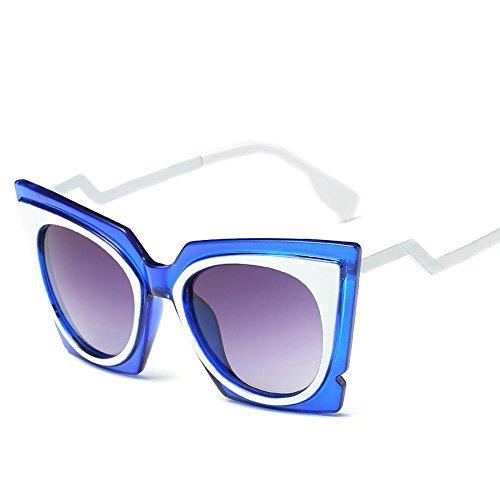 Aoligei Lunettes de soleil fashion tendance minimaliste de la mode rétro Europe et les États-Unis vent réflectorisé lunettes de soleil F
