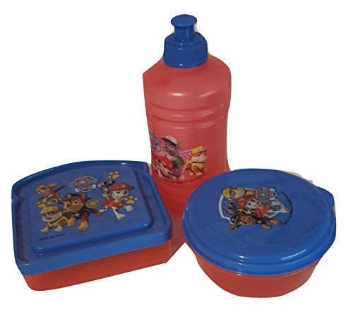 Paw Patrol BPA Free 1 Plastic Water Jug Bottle(16 oz Pull-top), 1 Sandwich Box, 1 Snack Container by Zak Designs Bundle Set