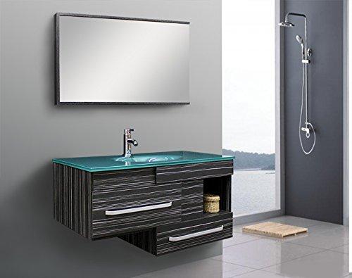 Badezimmermöbel Modern Spiegel Glaswaschtisch Spezialglas Plywoodholz TM-9032-17