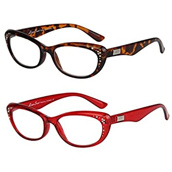 4b38aa2b7278 LianSan womens designer wayfarer compact cat eye retro fashion reading  glasses 1.0 1.25 1.5 1.75 2