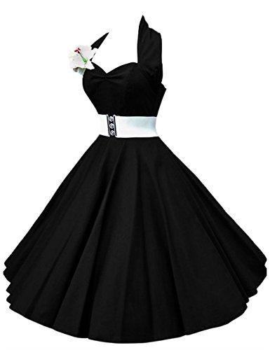 VKStar - Vestido - trapecio - para mujer negro XXXXL