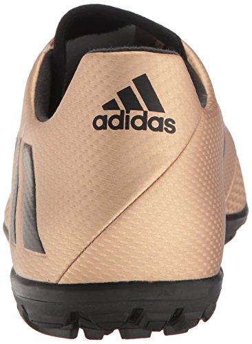 adidas Herren Messi 16.3 Rasen Fußballschuh Kupfer Metallic / Schwarz / Solargrün