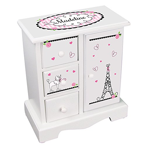 Personalized Girls Jewelry Armoire with Paris France La Design Design Armoire