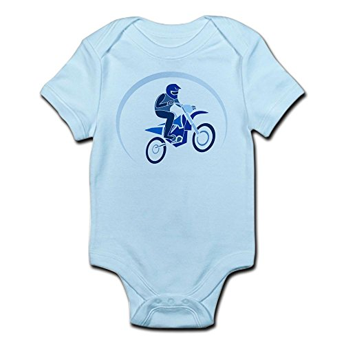 (Truly Teague Infant Bodysuit Motocross MX Flying Dirt Bike in Blue - Sky Blue, 12 to 18 Months)
