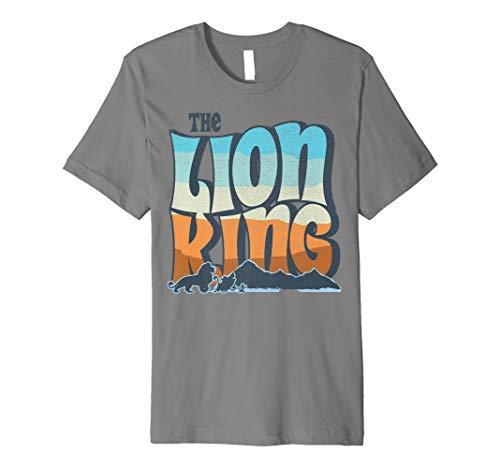 Disney Lion King Color Grade Retro Logo Premium T-Shirt