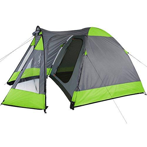 Kuppelzelt mit Tunnel-Apsis TITICACA 3 - 4 Personen Camping Zelt von BB Sport, Farbe:Phantom Green