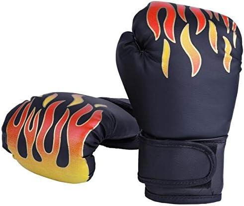 YIRANLT 子供ボクシンググローブキッズ専門的な訓練ファイティンググローブムエタイスパーリングパンチキックボクシング通気性PUフレイムグローブ
