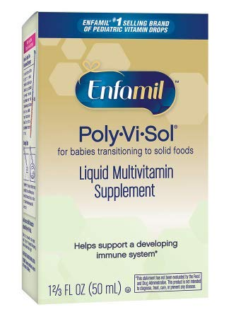 2 pack of Enfamil Poly-Vi-Sol Liquid Multivitamin Supplement Drops1.66 fl oz