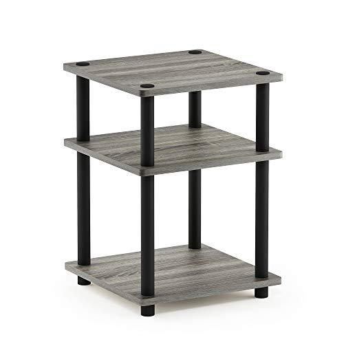 Furinno Turn-N-Tube Easy Assembly Multipurpose Shelf, French Oak Grey Black