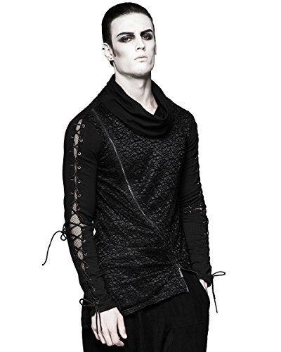Punk Rave Herren Langarmshirt schwarz schwarz