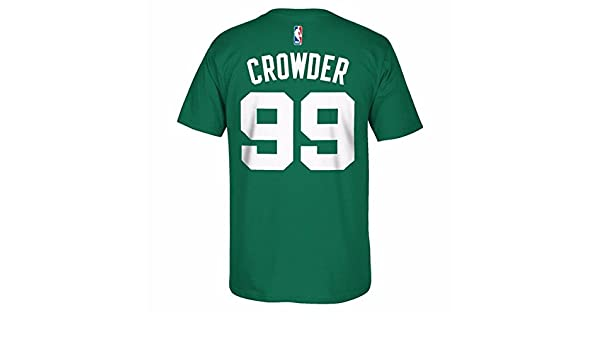 ... Amazon.com Jae Crowder Boston Celtics NBA Adidas Green Player Name  Number Team Jersey T ... 9eff454c3