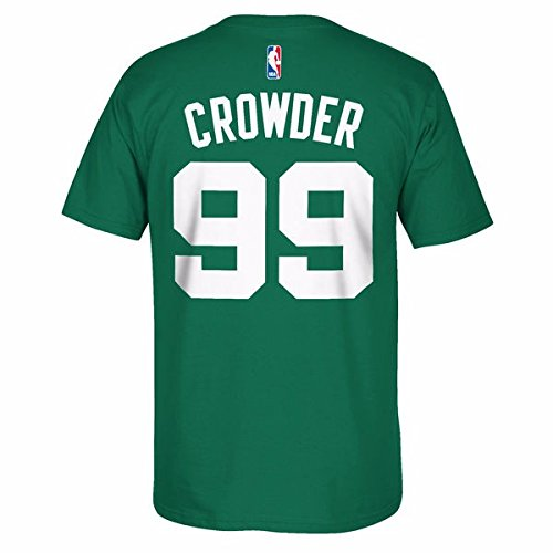 Jae Crowder Boston Celtics NBA Adidas Men Green Official Player Name & Number Jersey T-Shirt (L)