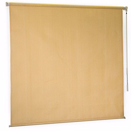Outdoor Cool Area Exterior Roller Shade Sunshade sun Blinds 6' x 6' + FREE E-Book by Eight24hours