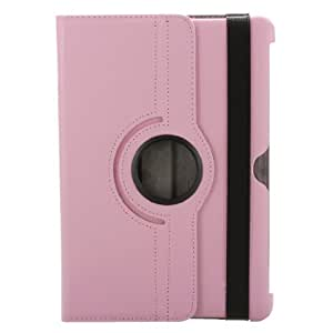 """pink 360 Rotating Leather Case Cover Stand for Samsung Galaxy Tab 2 10.1"""" P5110 P5100"""