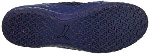 PUMA Mens 365 Ignite Netfit CT Soccer Shoe, Blue Depths White-Toreador, 7 M US