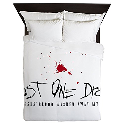 Queen Duvet Cover Just One Drop of Jesus Blood by Royal Lion