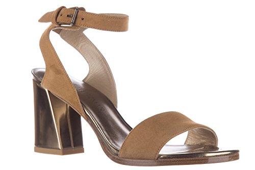 Stuart Weitzman sandali donna con tacco camoscio beige