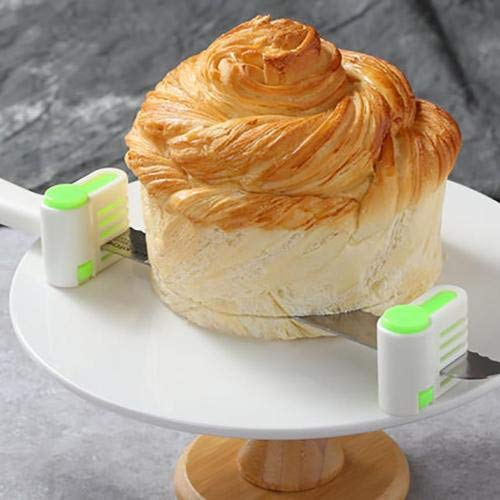 SUJING 4 Pcs Even Cake Slicing Leveler Bread Cutter Durable Baking Kitchen Tools,Bread separator by SUJING (Image #5)